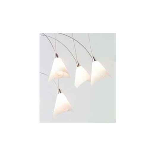 LBL Lighting Twilight Glass Teardrop 20 Light Chandelier