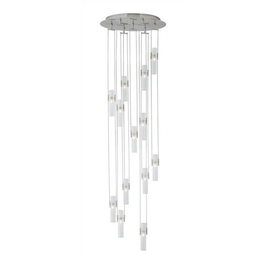LBL Lighting Tube 13 Light Cascade Pendant