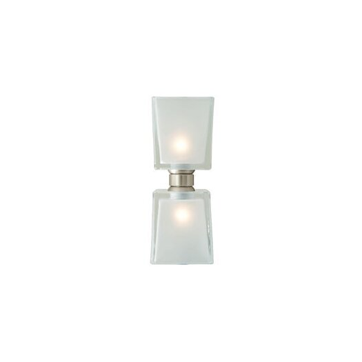 LBL Lighting Twin Tube Two Light Monorail Bath Kit Head with Frost shade in Satin Nickel