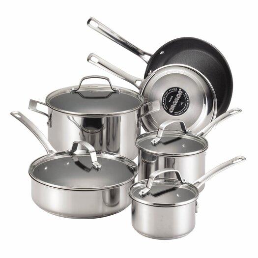 Circulon Genesis 10 Piece Stainless Steel Cookware Set