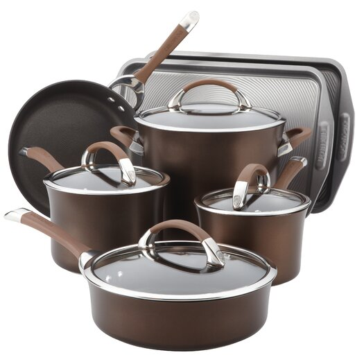 Circulon Symmetry Hard Anodized Nonstick 11 Piece Cookware & Bakeware Set