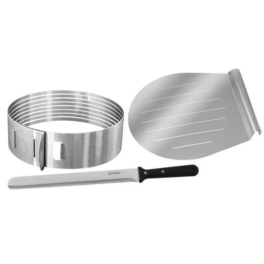 Frieling Zenker 3 Piece Layer Cake Slicing Kit Set