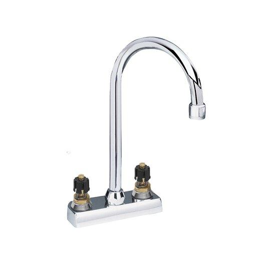 American Standard Amarilis Double Handle Centerset Bar Faucet with Less Handle and Gooseneck Swing Spout