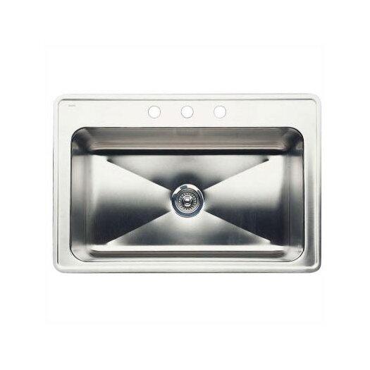 "Blanco Magnum 33"" x 22"" Large Single Bowl Drop-In Kitchen Sink"