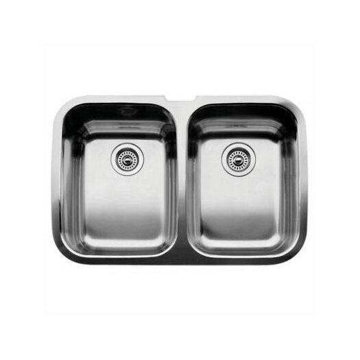 "Blanco Supreme 32"" x 20.88"" Equal Double Bowl Undermount Kitchen Sink"