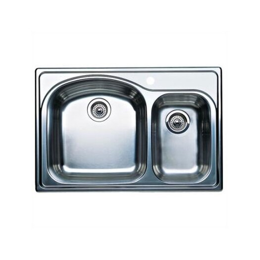 "Blanco Wave Plus 33"" x 22"" Plus Bowl Drop-In Kitchen Sink"