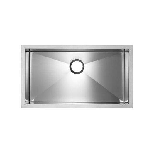 """Blanco Precision Microedge 32.5"""" x 20.5"""" Super Single Bowl Kitchen Sink"""