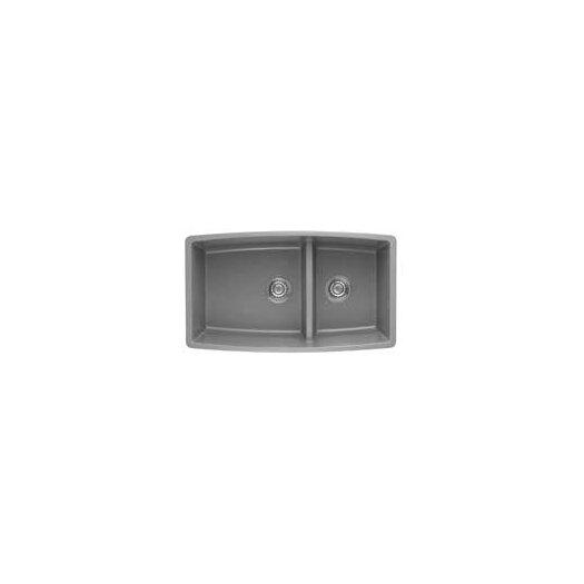 "Kitchen Sink 19 X 33: Blanco Performa 33"" X 19"" Silgranit II 1.75 Double Bowl"