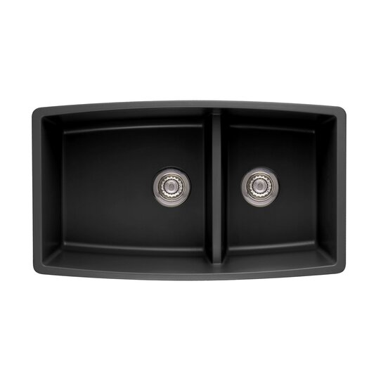 Blanco Performa 33 X 19 Silgranit Ii Double Bowl Undermount Kitchen Sink Allmodern