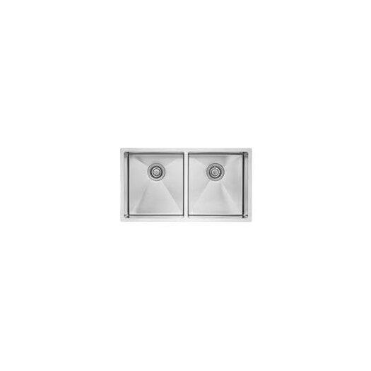 "Blanco Precision 32"" x 18"" R10 Medium Double Bowl Undermount Kitchen Sink"