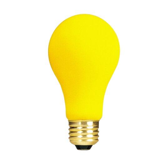 Bulbrite Industries Yellow 130-Volt Incandescent Light Bulb