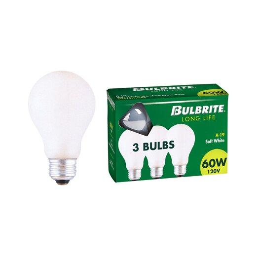 Bulbrite Industries 40W 130-Volt (2700K) Incandescent Light Bulb (Pack of 3)