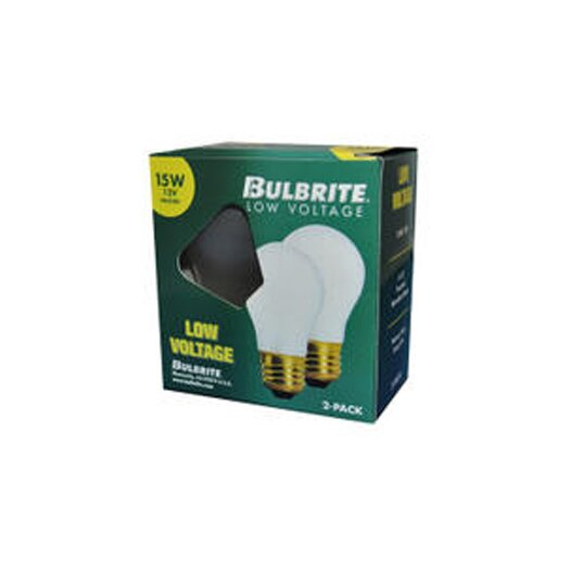 Bulbrite Industries 15W Frosted 12-Volt (2600K) Incandescent Light Bulb (Pack of 2)