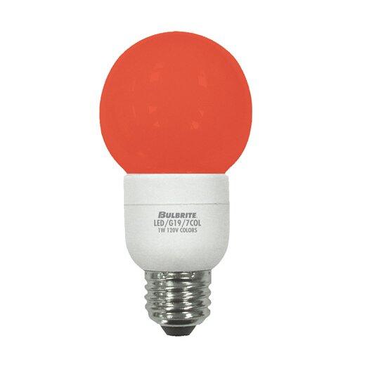 Bulbrite Industries 1W Orange 120-Volt LED Light Bulb