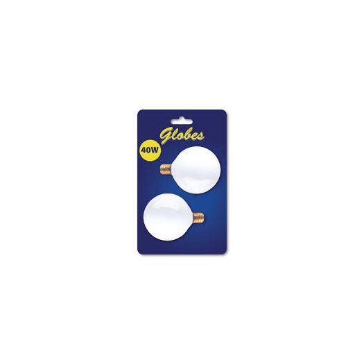 Bulbrite Industries Candelabra 40W 120-Volt (2700K) Incandescent Light Bulb (Pack of 2)