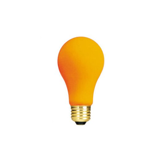 Bulbrite Industries Orange 120-Volt Incandescent Light Bulb