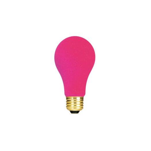 Bulbrite Industries Pink 120-Volt Incandescent Light Bulb