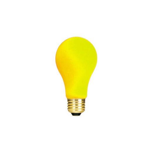 Bulbrite Industries Yellow 120-Volt Incandescent Light Bulb