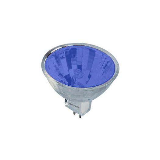 Bulbrite Industries Bi-Pin Blue 12-Volt Halogen Light Bulb