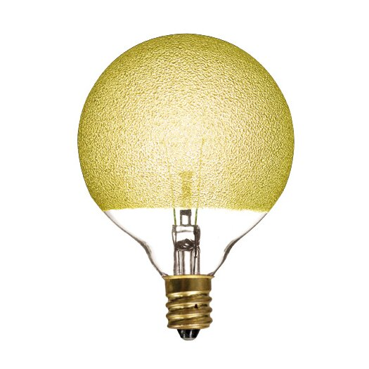 Bulbrite Industries Crystal 40W Yellow Incandescent Light Bulb