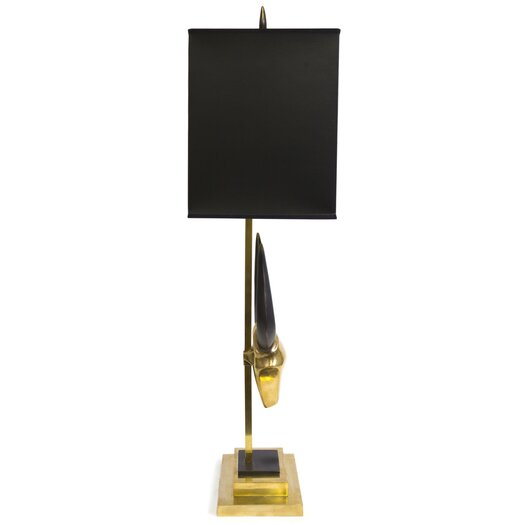 "Jonathan Adler 31.75"" H Table Lamp with Rectangular Shade"