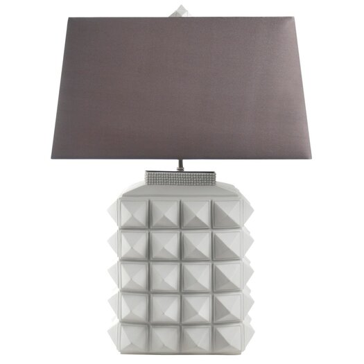"Jonathan Adler Charade 23.4"" H Table Lamp with Rectangular Shade"