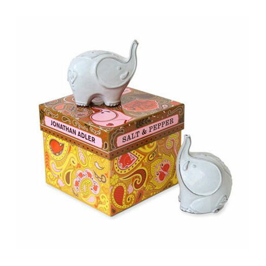 Jonathan adler elephants salt pepper mill set allmodern - Jonathan adler elephant ...