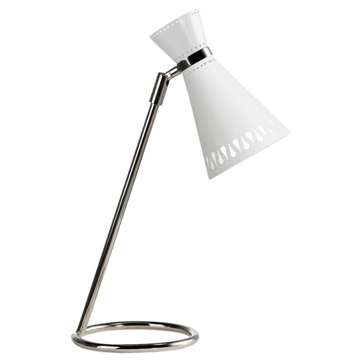 "Jonathan Adler Jonathan Adler Havana Task Adjustable 16.5"" H Table Lamp with Hourglass Shade"