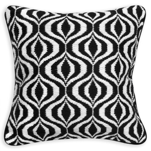 Bargello Waves Wool Throw Pillow
