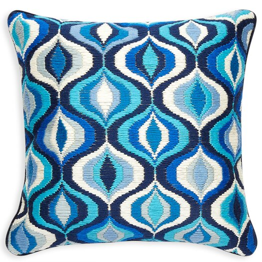 Waves Wool Throw Pillow