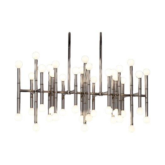 Jonathan Adler Meurice 42 Light Rectangular Chandelier
