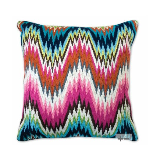 Jonathan Adler Bargello Worth Avenue Wool Throw Pillow