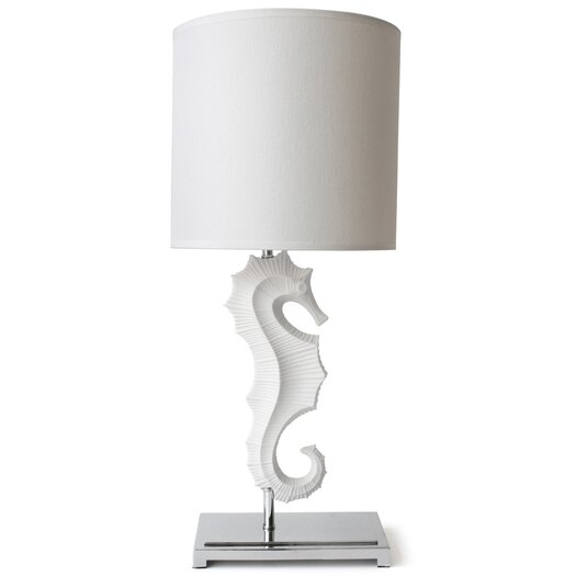 "Jonathan Adler Seahorse 25"" H Table Lamp with Drum Shade"