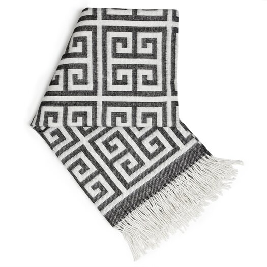 Jonathan Adler Greek Key Wool Throw Blanket