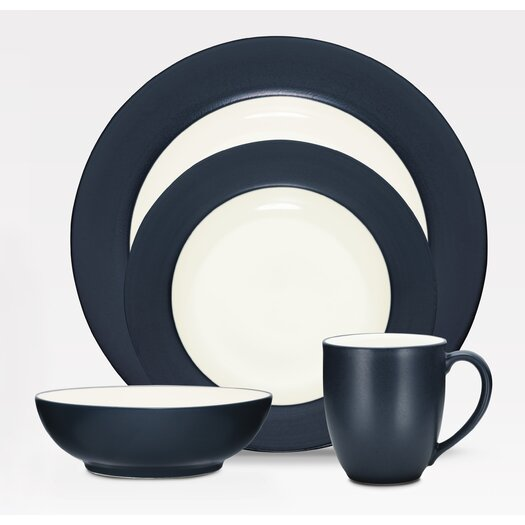 Noritake Colorwave Rim 16 Piece Dinnerware Set