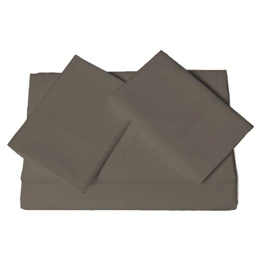 Tribeca Living 600 Thread Count 4 Piece Egyptian Cotton Sateen Deep Pocket Sheet Set