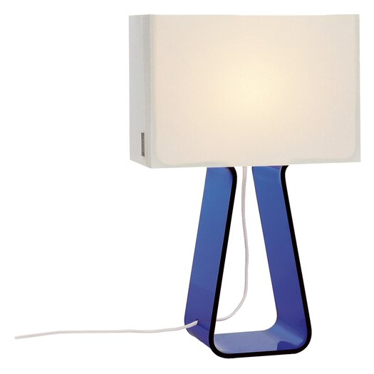 Pablo Designs Colorful Tube Top 14'' H Table Lamp with Rectangular Shade