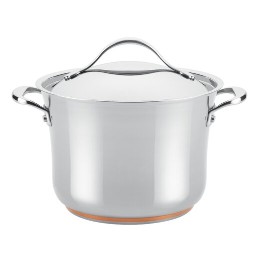 Anolon Nouvelle Copper Stainless Steel 6.5-qt. Stock Pot with Lid