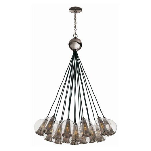 arteriors home caviar 18 light cluster pendant allmodern. Black Bedroom Furniture Sets. Home Design Ideas