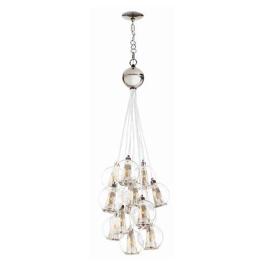 arteriors home caviar 8 light cluster pendant allmodern. Black Bedroom Furniture Sets. Home Design Ideas