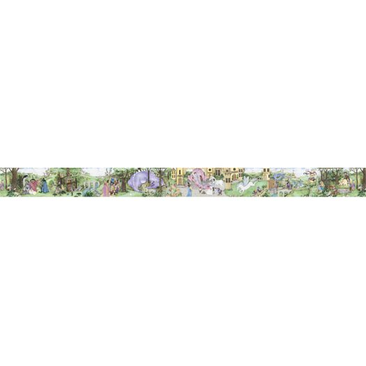 "4 Walls Enchanted Kingdom 18' x 18"" Scenic Border Wallpaper"
