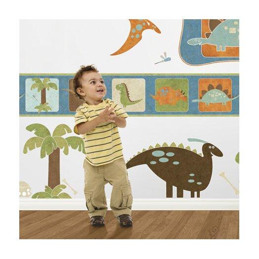"""4 Walls 15' x 9"""" Dinosaur Border Wallpaper"""