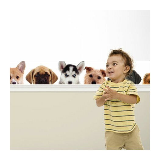 "4 Walls Good Dog Mural 18' x 18"" Wildlife Border Wallpaper"