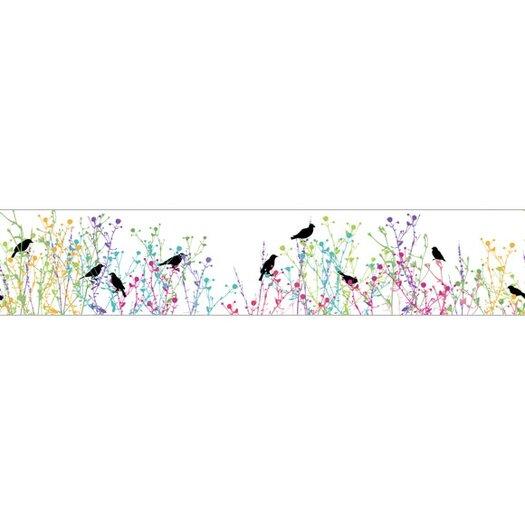 "4 Walls Birdsong 15' x 9"" Floral and Botanical Border Wallpaper"