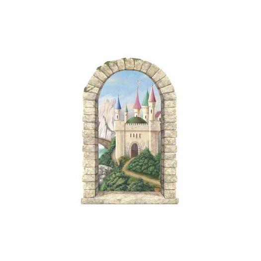 4 Walls Enchanted Kingdom Mountainview Castle Window Wall Mural
