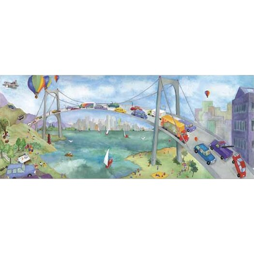 4 Walls Watercolor Journey Bridge Wall Mural
