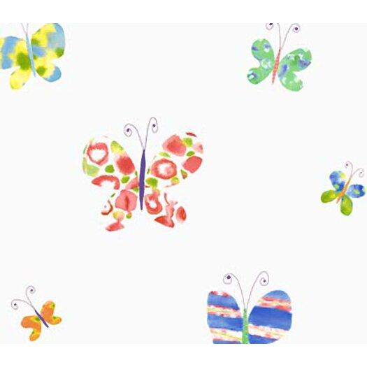 "4 Walls Whimsical Children's Vol. 1 20.5' x 33"" Butterfly Wallpaper"