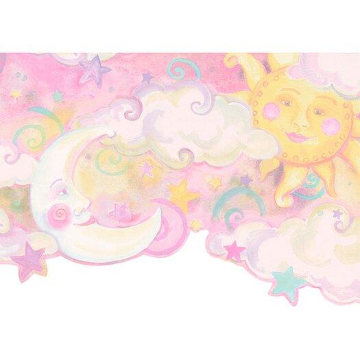 """4 Walls Whimsical Children's Vol. 1 Celestial 15' x 10.5"""" Border Wallpaper"""