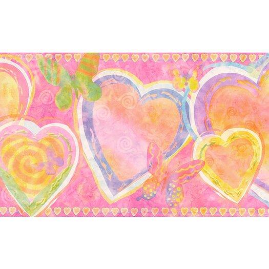 "4 Walls Whimsical Children's Vol. 1 Heart 15' x 9"" Border Wallpaper"