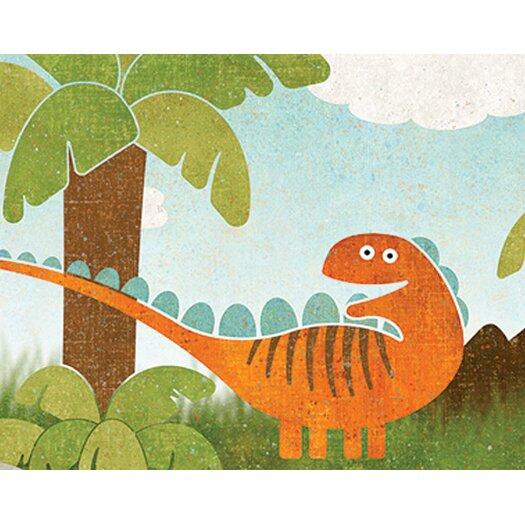 """4 Walls 12' x 6"""" Dinosaur Border Wallpaper"""